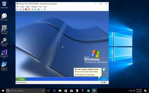 windows 7 vm image look nested hyper v virtualization in azure v3