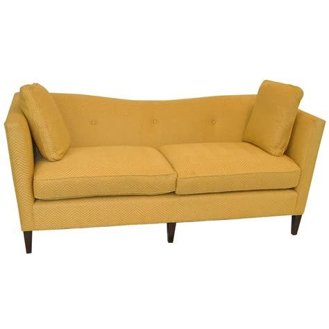 french sofa for sale french tuxedo butter yellow sofa by baker furniture baker