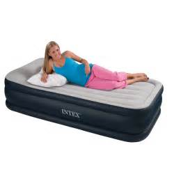 intex single size deluxe pillow rest airbed with built in