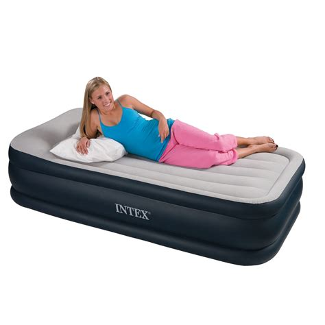 Intex Bed by Intex Single Size Deluxe Pillow Rest Airbed With Built In
