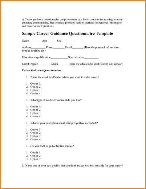 update 45045 questionnaire template in word 35