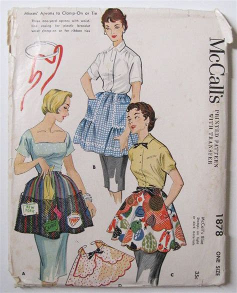 apron pattern with d ring vintage sewing pattern 1950s hostess half apron with