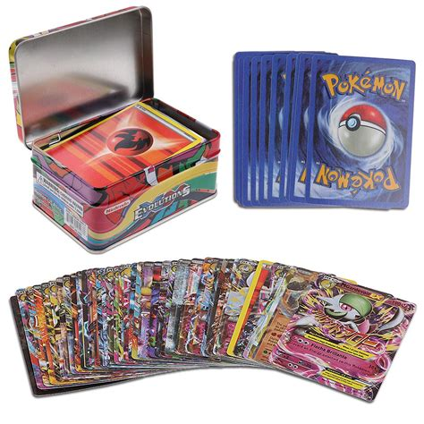 Gift Card Tin Box - funny 42pcs pokemon cards pokemon trading card game cards