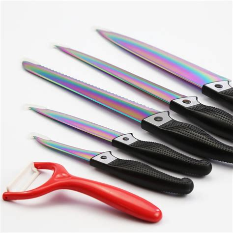 titanium kitchen knives 6 titanium kitchen knife set with gift box buy