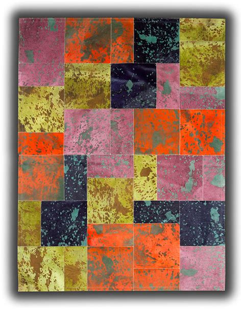 Colored Cowhide Rugs - pieles pipsa multi colored cow hide designer rug 10 from