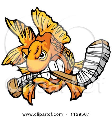 Bok Bok Tuna Bone Stick royalty free rf clipart illustration of a angry