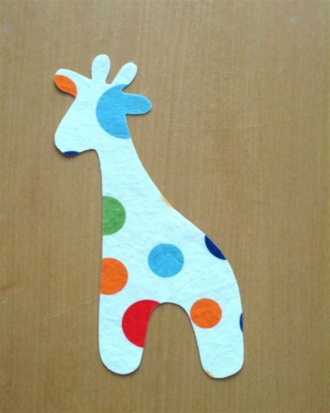 giraffe applique giraffe applique pdf template