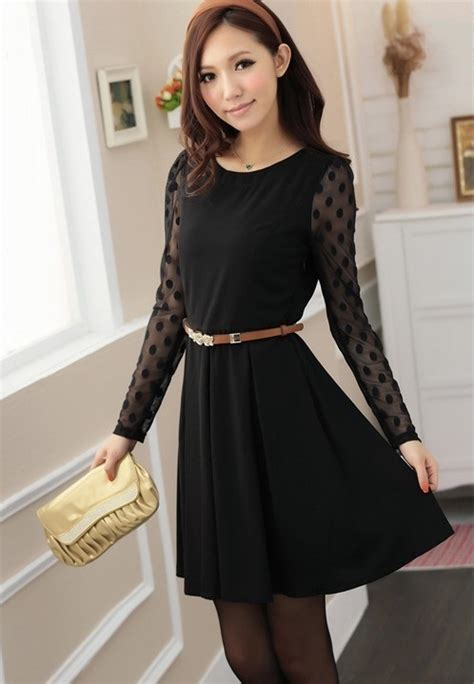 Dress Dress Korea Dress Hitam Black Dress Hitam Black Dress Korea Hitam Terbaru Model Terbaru Jual