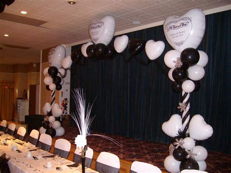 Black and white wedding decor special occasion foils matthew lewis displays and special