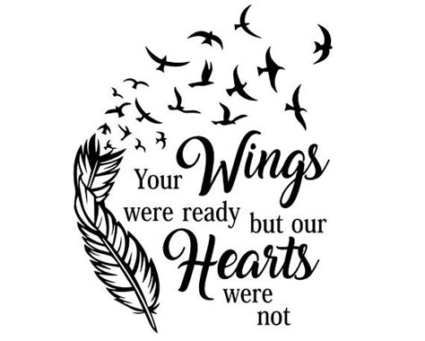 feather tattoo your wings were ready your wings were ready svg your wings were ready but our