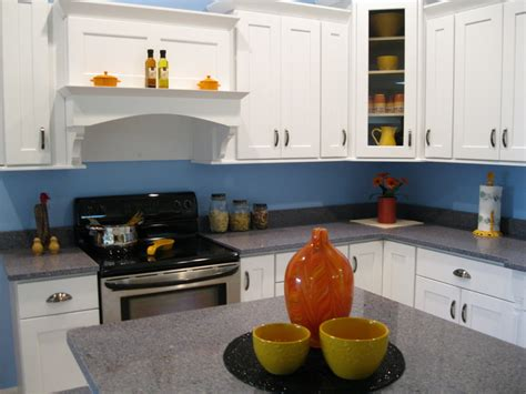 Blue Kitchen Walls White Cabinets Kitchen Warm Kitchen Design With White Cabinets And Blue Wall Colors