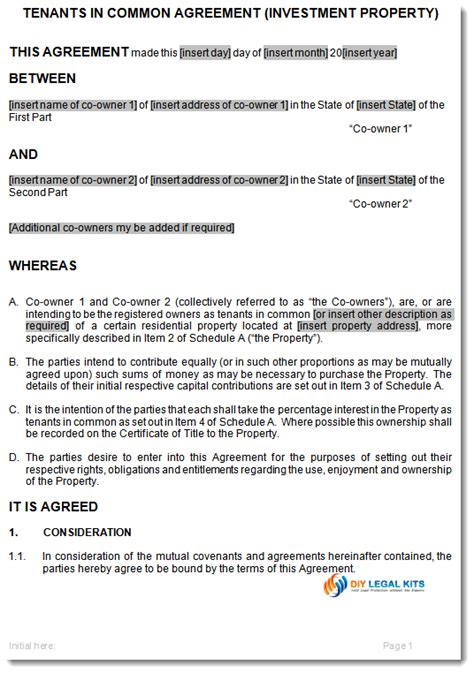 deed of ownership template pacq co