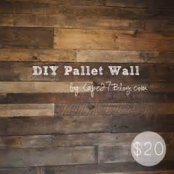 Temporary Kitchen Backsplash diy pallet wall via cape27blog manteresting