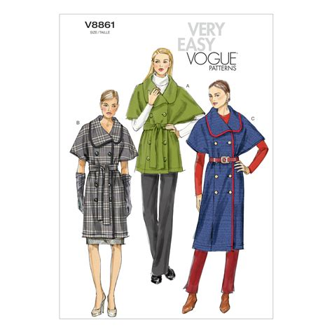 Pattern Jacket Sml 21663 vogue misses jacket and belt xsm sml med sewing pattern tanga