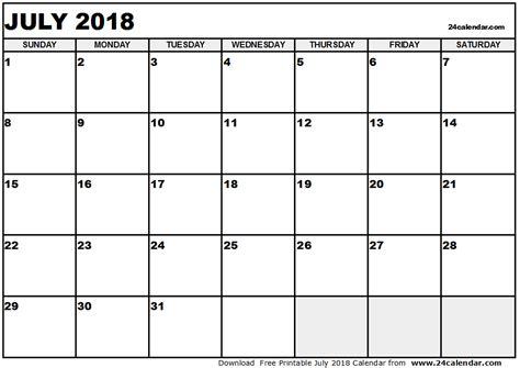 free printable calendar free printable calendar july july 2018 calendar pdf monthly printable calendar