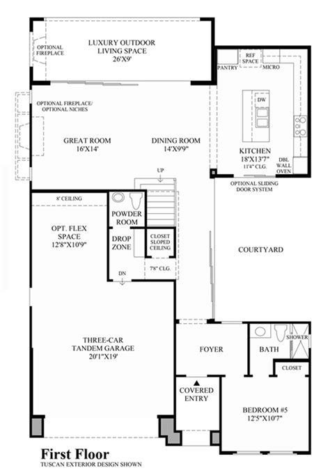 cascade floor plan the heights at baker ranch luxury new homes in lake