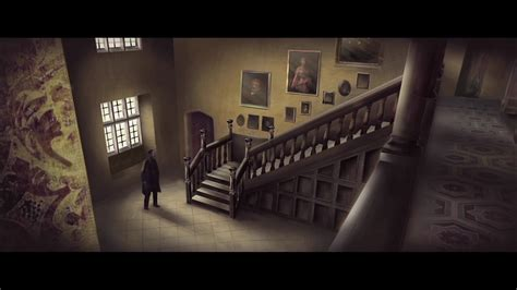 eel marsh house the woman in black eel marsh house entrance hall corridor concept artwork