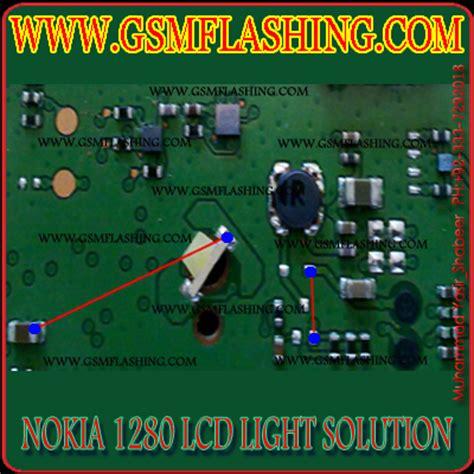 nokia 1280 display ways problem repair solution nokia 1280 1616 lcd light problem jumper solution gsm