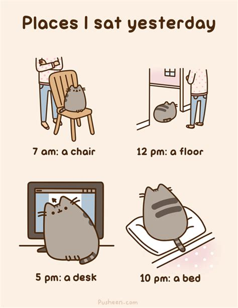 Pusheen Cat Meme - if it fits i sits pusheen version catz club