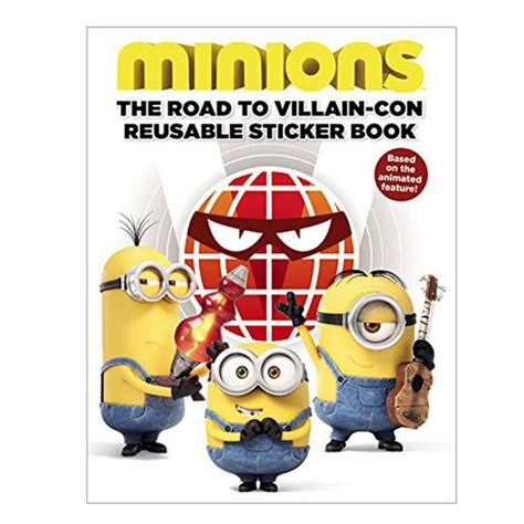 Minions Reusable Sticker Book the road to villain con minions a4 sticker book minion shop