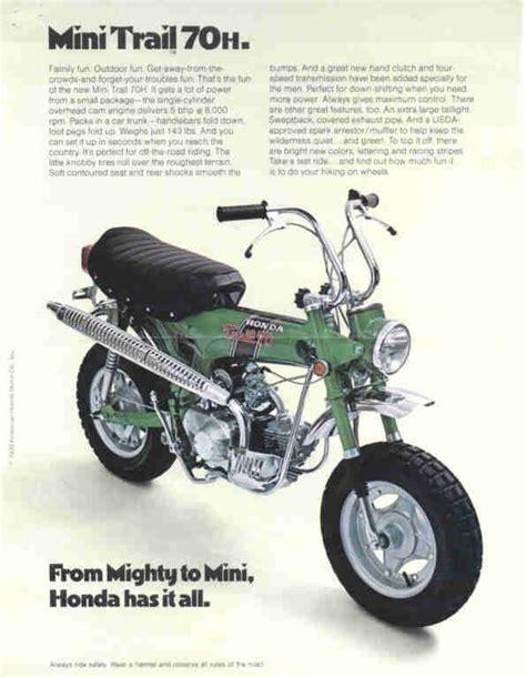 Mini Trial Motorrad by Honda Mini Trail 70 Usa Bikes Pinterest Motorrad