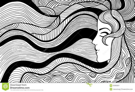 Black And White Drawing by Black And White Abstract Drawings 8 Background
