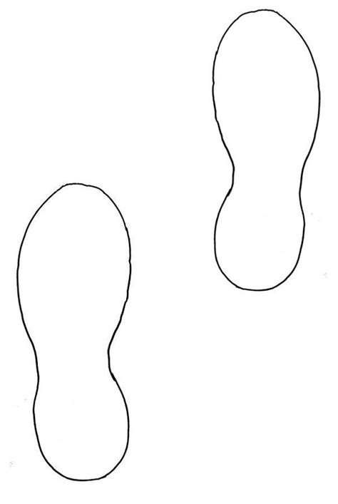 footprint clipart template pencil and in color footprint