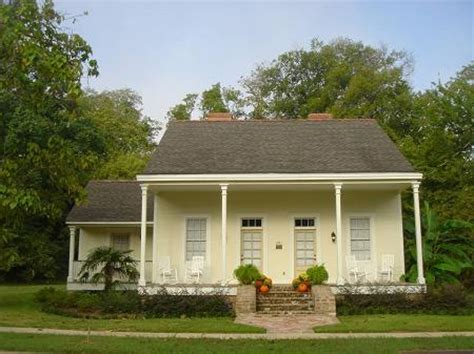 Historic Greek Revival House Plans by 1835 Creole Cottage In Natchitoches Louisiana House