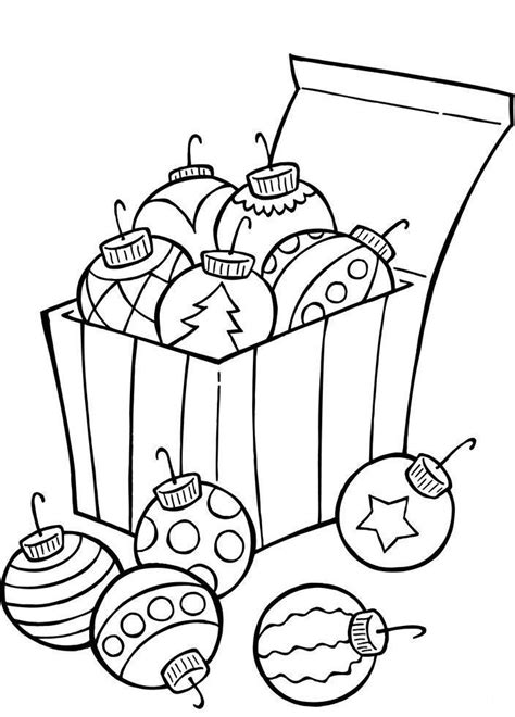 Ornaments For Christmas Tree Coloring Page Christmas Tree Balls Coloring Pages