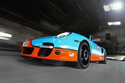 gulf porsche porsche 997 turbo gulf racing wrap autoevolution