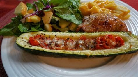 garden stuffed zucchini boats taste of home diy cupcake holders tomato basil grilled zucchini boats