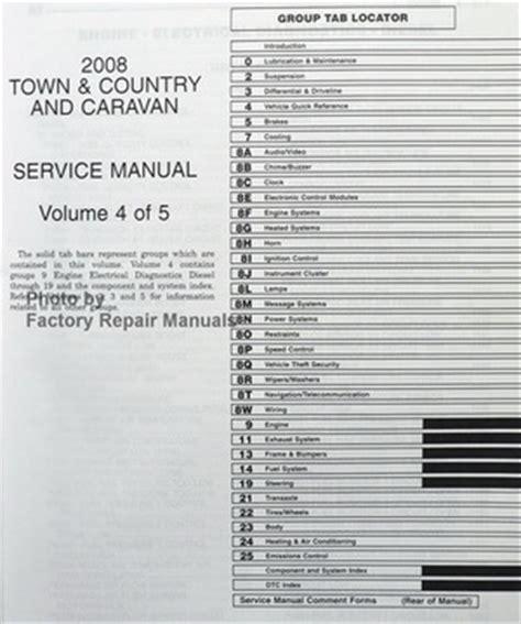 service manual car engine manuals 2008 dodge grand caravan auto manual 2002 dodge grand 2008 chrysler town country dodge grand caravan factory shop service manual set ebay