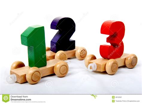 three one wooden numbers one two three stock photo image 4912252