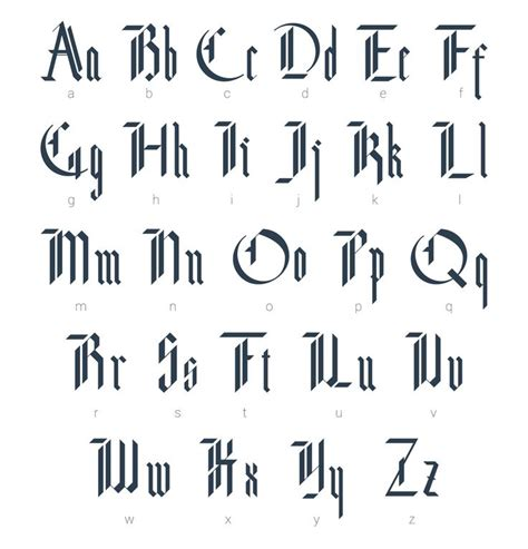 design gothic font the 25 best ideas about gothic alphabet on pinterest