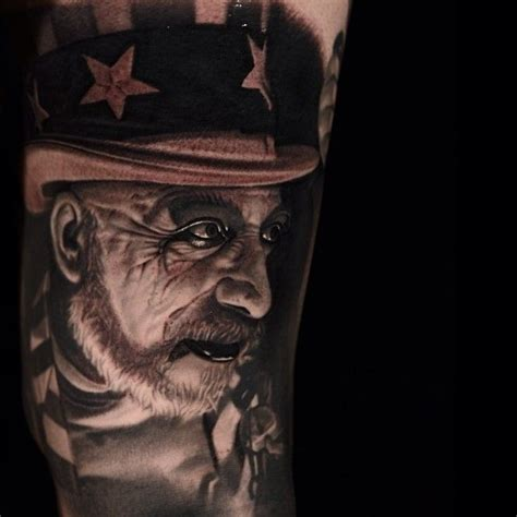 captain spaulding tattoo captain spaulding from the devils rejects tattooed by