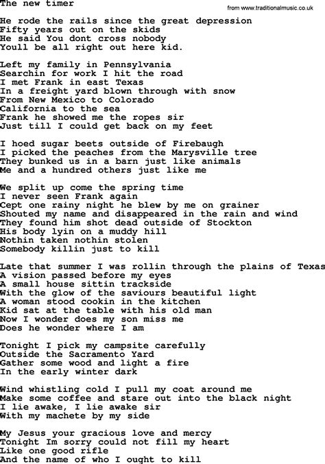 Come To The Table Lyrics by Bruce Springsteen Song The New Timer Lyrics