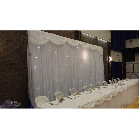 Wedding Backdrop Glasgow by White Led Wedding Top Table Backdrop Starcloth 6m Fr 163 80
