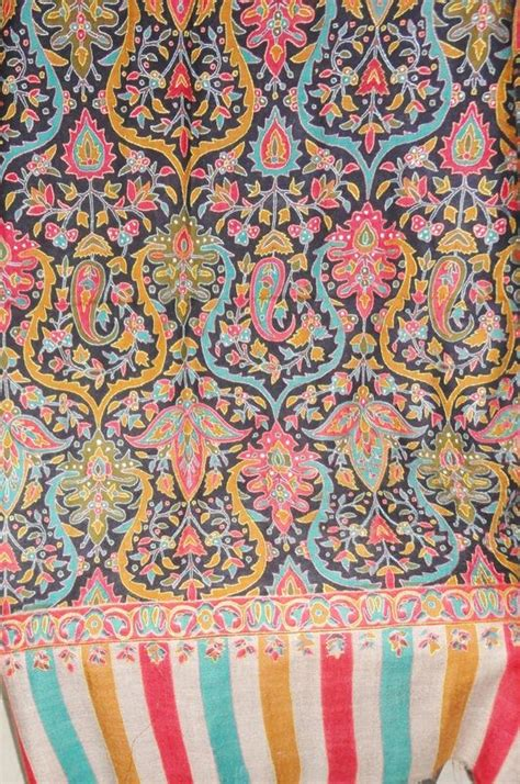 Pashmina Motif By Alzara 1 Printed Kani Design Embroidered Handwoven Pashmina