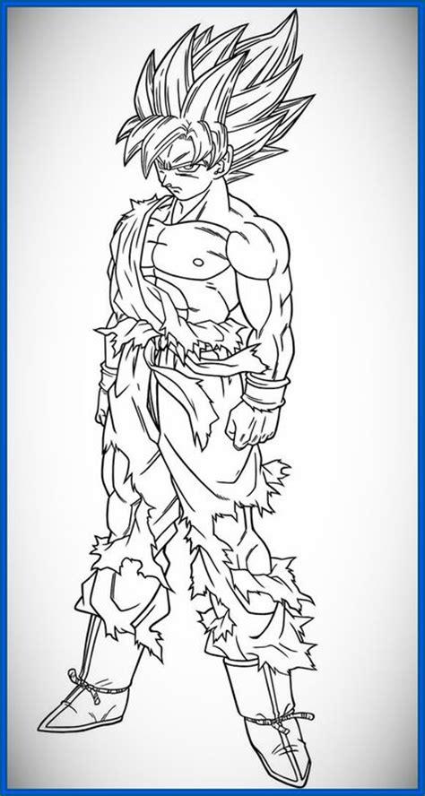 imagenes para colorear goku fase 4 dibujos de goku para colorear fase 4 archivos dibujos de