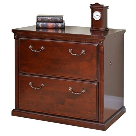 Lateral File Cabinet Cherry Kathy Ireland Home By Martin Huntington Club 2 Drawer Lateral File In Vibrant Cherry Hcr450 D