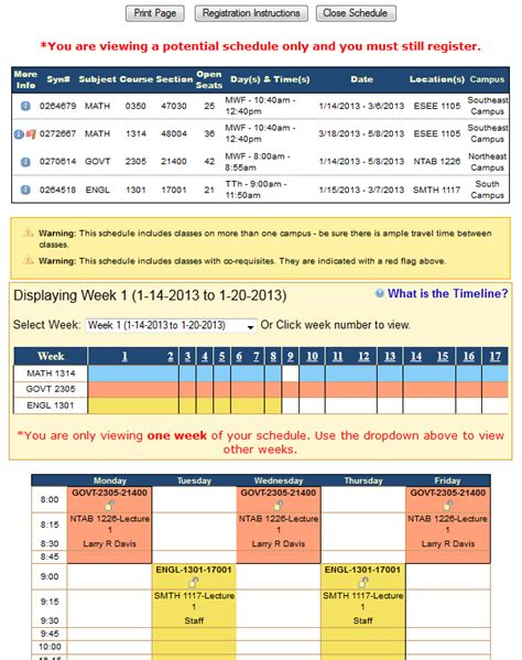 college course planner template college schedule planner template business