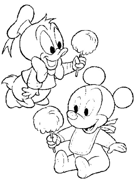 baby disney character coloring pages