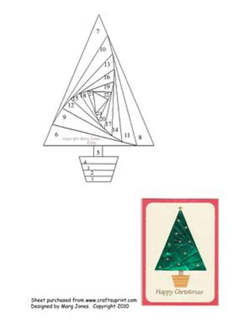 folded tree card template tree iris folding pattern cup51760 601