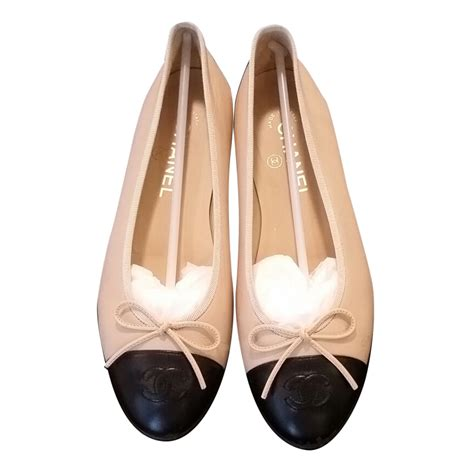 chanel shoes flats chanel chanel beige black two tone ballerina flats ballet