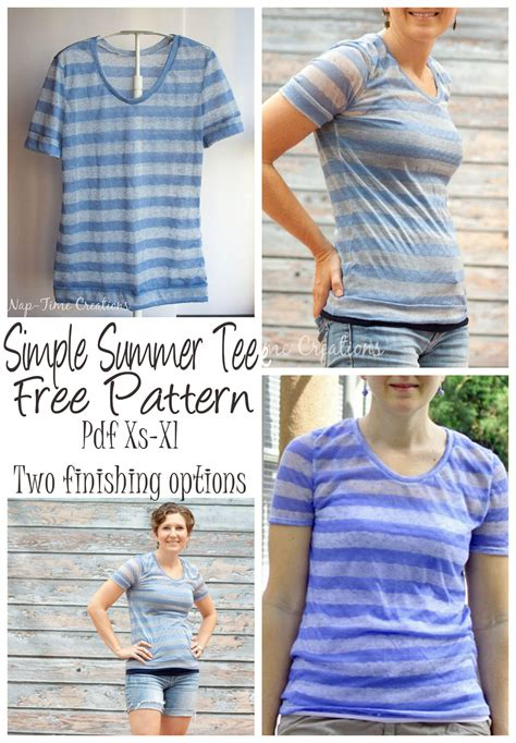 t shirt pattern pdf women s short sleeve t shirt free pattern nap time creations