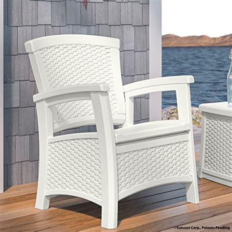 suncast elements club chair with storage white furniture
