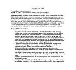 Coo Description chief operating officer description template 7 free word pdf format free