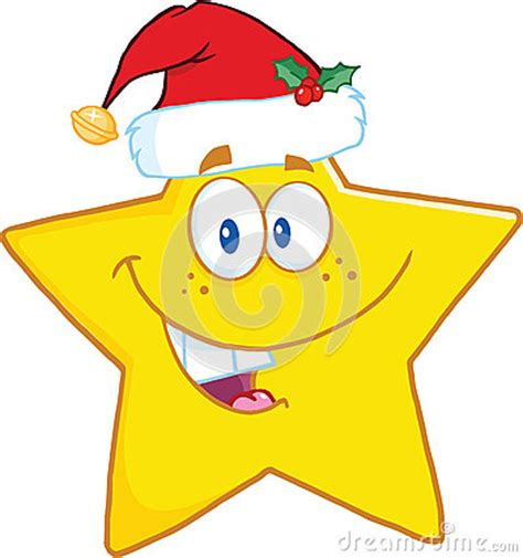 personaje de dibujos animados sonriente feliz de santa personaje de dibujos animados sonriente de la estrella con