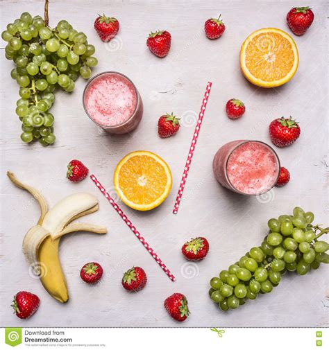 Fresh Fruit Detox Diet by Superfoods And Health Or Detox Diet Food Concept Fresh