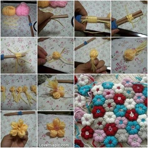diy yarn flowers pictures photos and images for